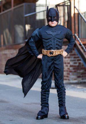 Fantasia infantil de Dark Batman – Kids Deluxe Dark Knight Batman Costume