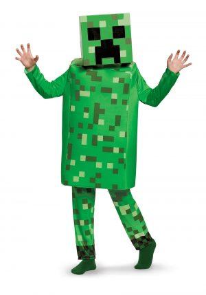 Fantasia infantil de Minecraft Creeper – Minecraft Creeper Deluxe Kids Costume
