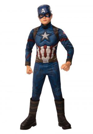 Vingadores fantasia do Capitão América – Deluxe Avengers: Endgame Boys Captain America Costume