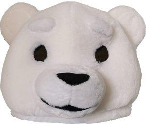 Cabeça Capacete Máscara de luxo Urso Pelúcia – white