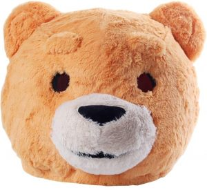 Cabeça Capacete Máscara de luxo Urso Pelúcia – Orange