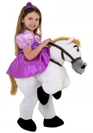 fantasia menina em cima do cavalo branco – Rapunzel Ride On Costume