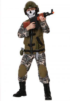 Fantasia  infantil de camuflagem – Kids Camo Trooper Costume