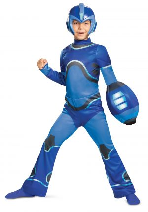Fantasia Mega Man Fully  -Mega Man Fully Charged Kids Mega Man Classic Costume