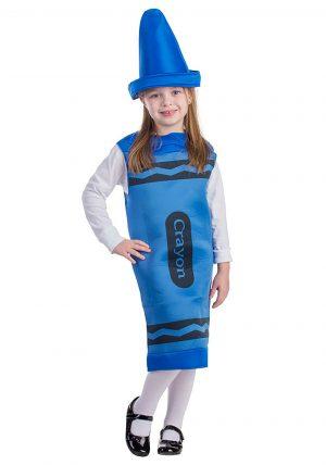 Fantasia de giz de cera azul – Toddlers Blue Crayon Costume