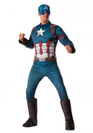 Fantasia  Capitão América – Deluxe Captain America Men's Costume