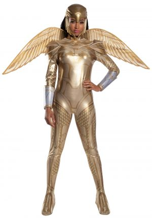 Fantasia Mulher Maravilha com Armadura de Ouro – Wonder Woman Gold Armor Deluxe Womens Costume