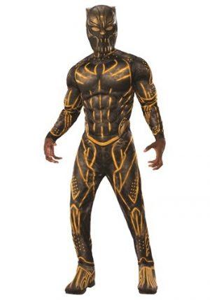 Fantasia Pantera negra – Deluxe Adult Black Panther Erik Killmonger Battle Suit