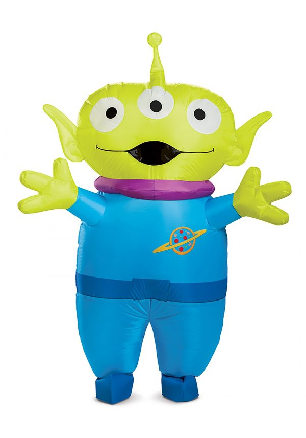 Fantasia adulto inflável Toy Story alienígena – Toy Story Alien Inflatable Adult Costume