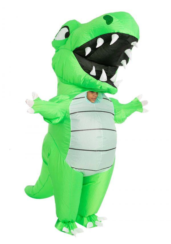 Fantasia de Dino verde adulto inflável – Inflatable Adult Green Dino Costume