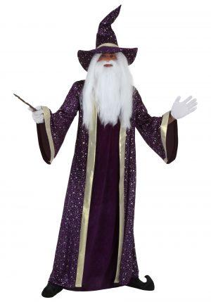 Fantasia de Feiticeiro Plus Size -Plus Size Wizard Costume for Adults