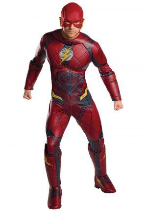 Fantasia de Flash Deluxe – Justice League Adult Deluxe Flash
