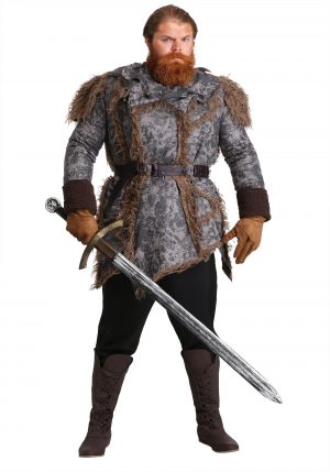 Fantasia de Guerreiro Plus Size – Men's Plus Size Wild Warrior Costume