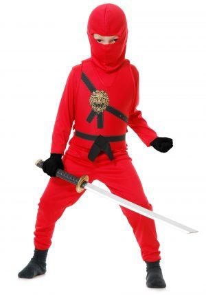 Fantasia de Mestre Ninja Vermelho Infantil – Child Red Ninja Master Costume