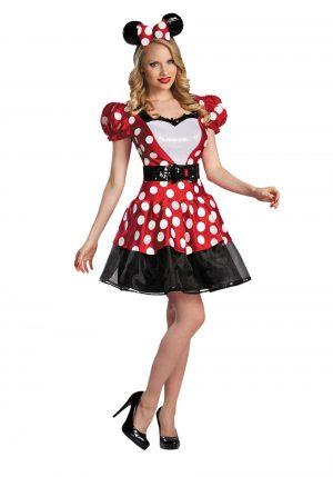 Fantasia de Minnie Mouse Adulto – Red Glam Minnie Mouse Costume