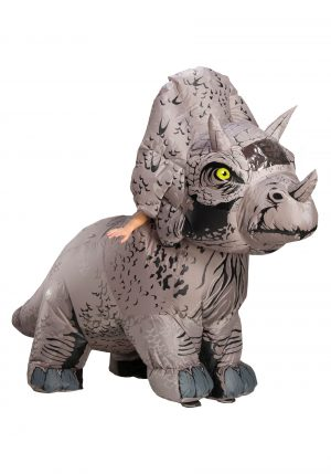 Fantasia de Triceratops inflável Jurassic World 2 – Jurassic World 2 Inflatable Triceratops Adult Costume