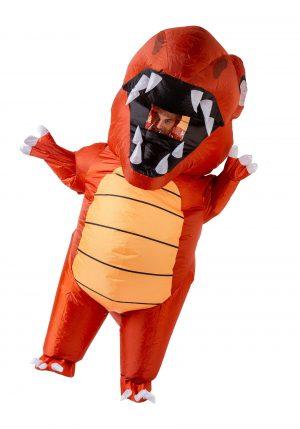 Fantasia de dinossauro inflável vermelho para adultos – Inflatable Red Dino Costume for Adults