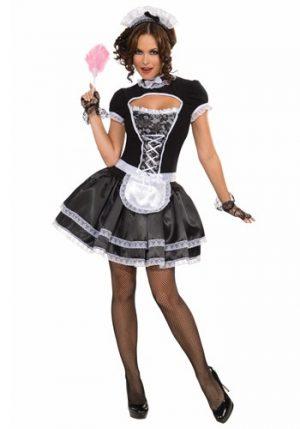 Fantasia de empregada doméstica feminina – Adult French Maid Costume