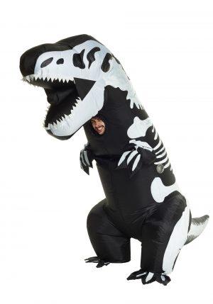Fantasia de esqueleto inflável T-Rex – Inflatable Skeleton T-Rex Adult Costume