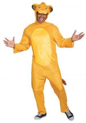 Fantasia de macacão Simba Rei Leão – Lion King Animated Simba Jumpsuit Adult Costume