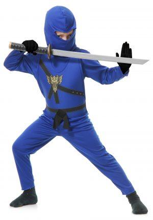 Fantasia de mestre Ninja Azul – Child Blue Ninja Master Costume