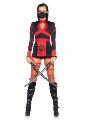 Fantasia de ninja feminino Sexy – Women's Dragon Ninja Costume
