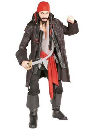 Fantasia de pirata masculina – Adult Captain Cutthroat Pirate Costume