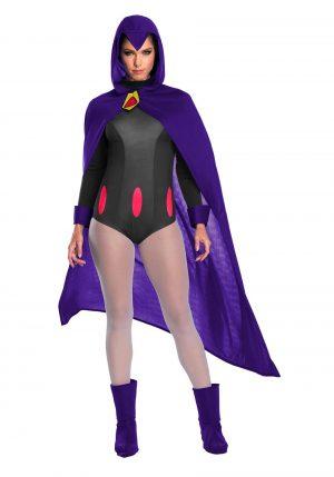 Fantasia feminina de raven Jovens titãs adolescentes – Teen Titans Raven Womens Costume