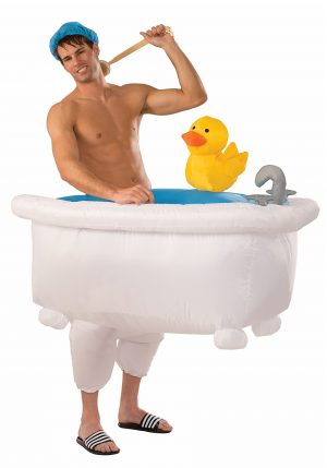 Fantasia inflável  de Banheira – Adult Inflatable Man in Tub Costume