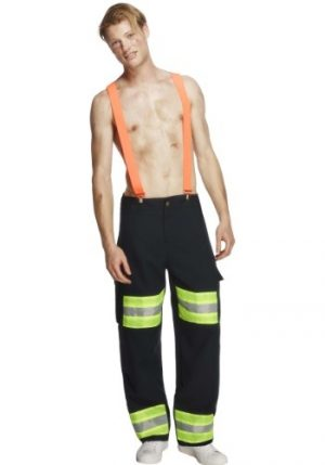 Fantasia masculina de bombeiro – Blazing Hot Firefighter Men's Costume