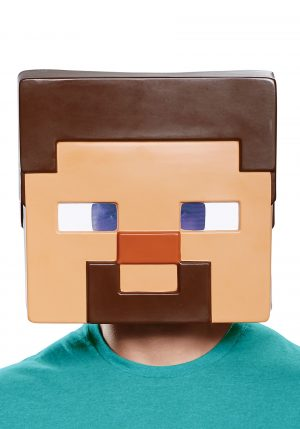 Máscara facial Minecraft Steve para adultos- Minecraft Steve Full-Face Mask for Adults.