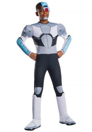 Traje de criança ciborgue dos jovens titãs adolescentes – Teen Titans Cyborg Child's Costume