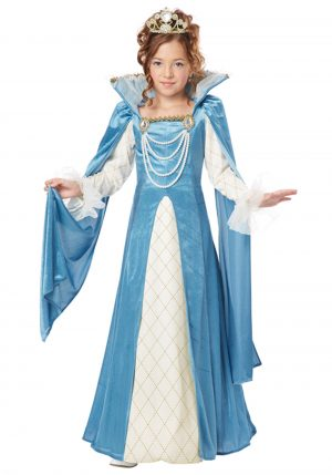 Traje de rainha renascentista para meninas – Girls Renaissance Queen Costume
