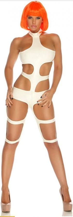 Body feminino Futuristic Element com tiras elásticas e recortes – Futuristic Element female body with elastic strips and cutouts