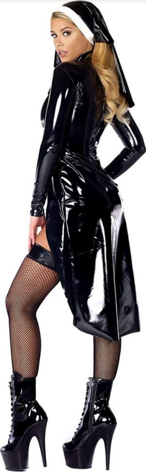 Fantasia de Freira sexy – Forplay Women's vinyl panties Saintlike Seductress