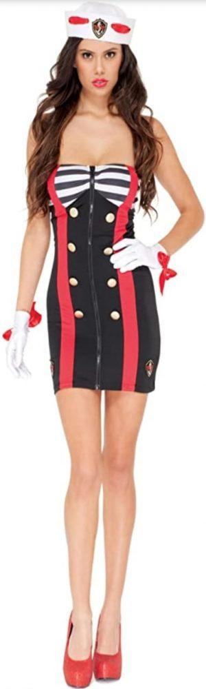 Fantasia de Marinheira Sex – female Sailor chic adult size Costumes