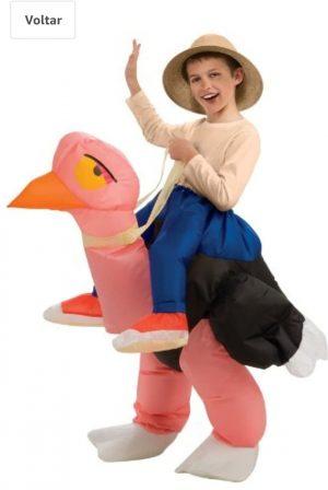 """Rubie's Avestruz de fantasia inflável e menino -Big Boys """"inflatable fantasy Ostrich"""