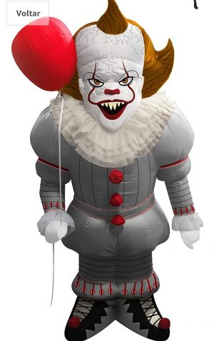Rubie's  Fantasia Inflável IT a coisa – IT Movie Pennywise Lawn Inflatable