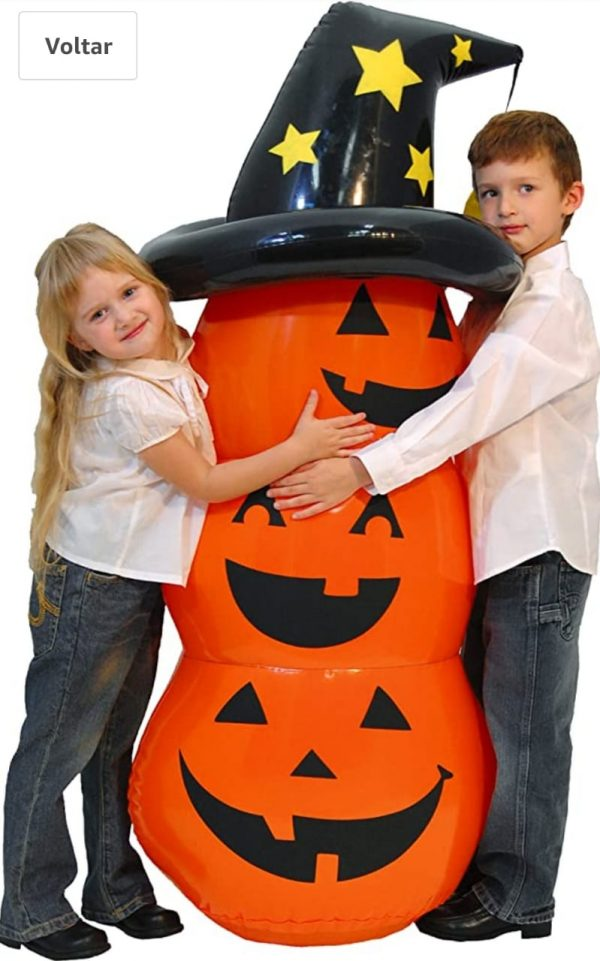 Abobora Inflável 130 cm – Halloween Rocking Pumpkin Costume Accessory