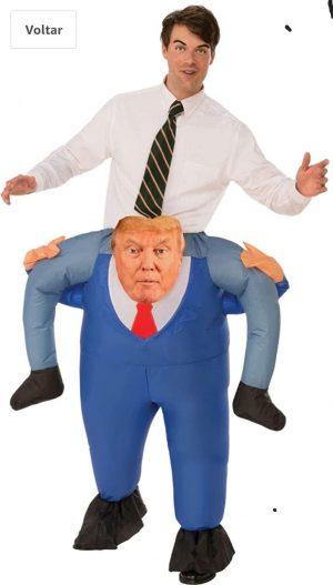 Rubie's Fantasia Presidencial com costas de cabeça – Rubie's Presidential Costume with back of head –