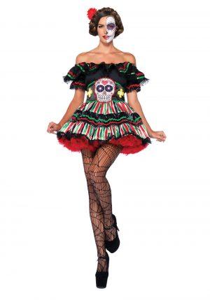 Fantasia La Catrina Feminina – Day of the Dead Doll Costume