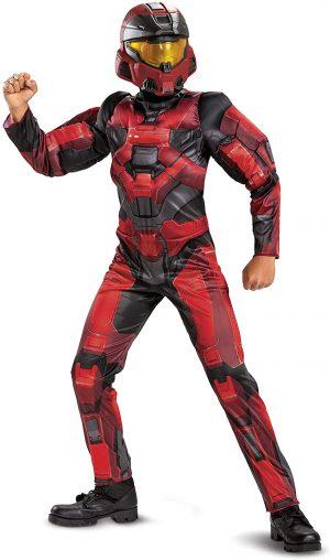 Fantasia de espartano vermelho Halo Infinite – Red Halo Infinite Spartan Costume