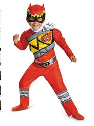 Disguise Fantasia de Dino Musculoso Vermelho – Disguise Red Ranger Dino Charge Toddler Muscle Costume