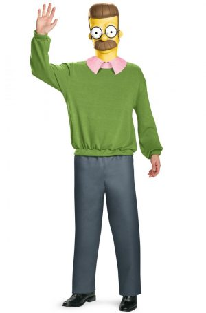 Fantasia Adulto os Simpsons Flanders – Ned Flanders Deluxe Adult Costume