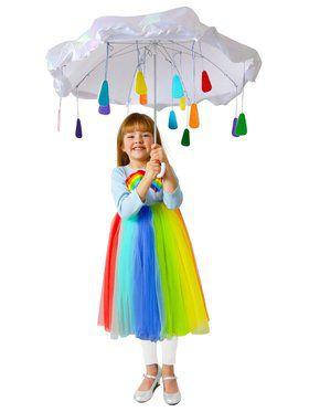 Fantasia Infantil de Arco íris – Child Rainbow Rain Cloud Costume Premium