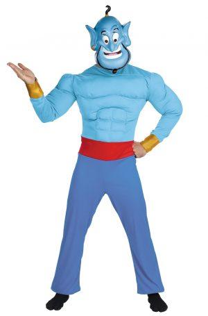 Fantasia de Disney Aladdin  Gênio  – Disney Aladdin Genie Muscle Adult Costume