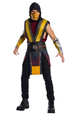 Fantasia de Escorpião para Adultos de Mortal Kombat 11 – Mortal Kombat 11 Scorpion Adult Costume