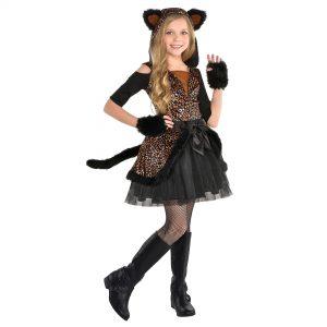 Fantasia de Leopardo para Meninas- Girls Spot On Leopard Costume