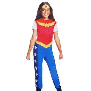 Fantasia de Mulher Maravilha – Girls Wonder Woman Jumpsuit Costume