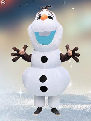 Fantasia de Olaf inflável para Adultos – Inflatable Olaf Costume for Adults